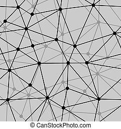 abstract, seamless, zwarte achtergrond, witte , net
