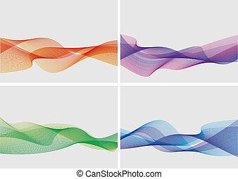 abstract, set, achtergronden, (vector)