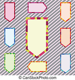 abstract, set, spandoek, corlorful, illustratie