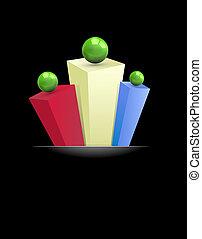 abstract, veel-gekleurd achtergrond, prisma's, 3d, gre