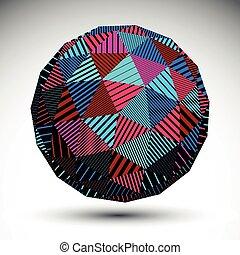 abstract, voorwerp, driehoekig, 3d