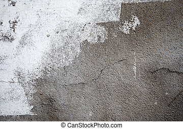 abstract, white., achtergrond, beton, geverfde muur