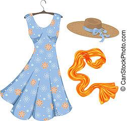 accessories., zomer jurk, romantische
