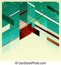 achtergrond., abstract, retro, geometrisch