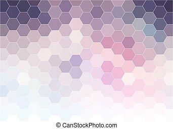 achtergrond, abstract, vector, zeshoek