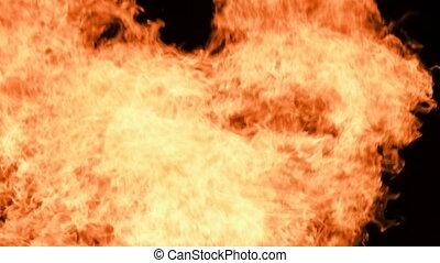 achtergrond, burning, vuur, vlammen, vreugdevuur, black , nacht