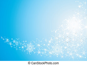 achtergrond, feestelijk, abstract, sneeuw, sterretjes, glanzend, flakes.