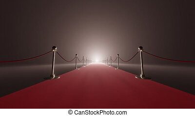 achtergrond, gala, rendering., nacht, 3d, kabels, tapijt, fluweel, achtergrond., rood