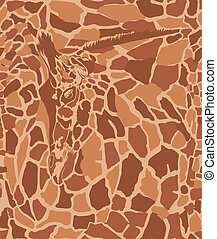 achtergrond, giraffe, kunst