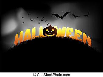 achtergrond, halloween, hefboom o lantaarn