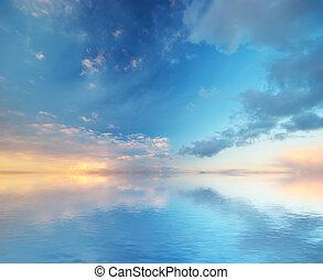 achtergrond., hemel, nature., samenstelling