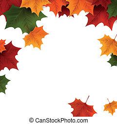 achtergrond, herfst, vector