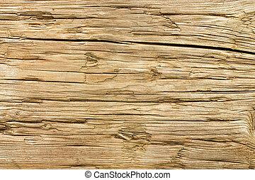 achtergrond., hout, oud, verweerd, textuur
