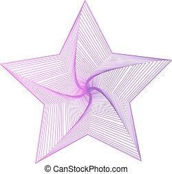 achtergrond, illustratie, vector, ster, vrijstaand, witte , pictogram