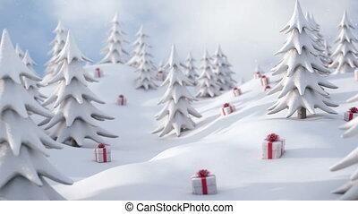 achtergrond, kerstmis, winter