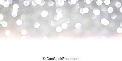 achtergrond., kerstmis, zilver