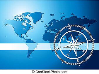 achtergrond, kompas