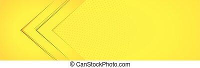 achtergrond, lijnen, vector, geel-oranje, panoramisch, -