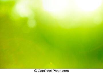 achtergrond, natuur, abstract, flare)., groene, (sun