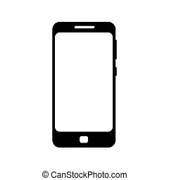 achtergrond, pictogram, black , vrijstaand, telefoon, witte