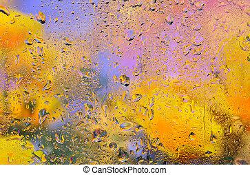 achtergrond., regenachtig, abstract
