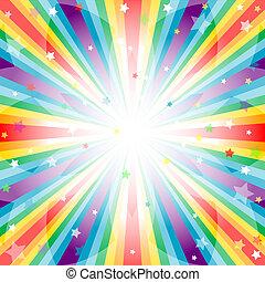 achtergrond, regenboog, abstract, stralen