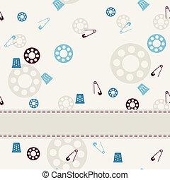 achtergrond., seamless, naaiwerk
