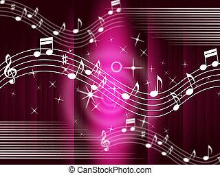 achtergrond, stemmen, muziek, melodie, paarse , middelen