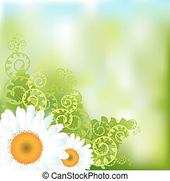 achtergrond, vector, floral