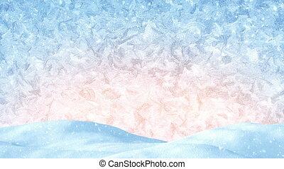 achtergrond, winter, loopable, kerstmis