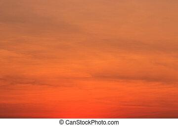 achtergronden, ondergaande zon , blauwe hemel, wolken