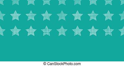 achtergrondmodel, seamless, textiel, groene, sterretjes, textured, horizontaal