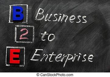 acroniem, b2e, -, zakelijk, onderneming