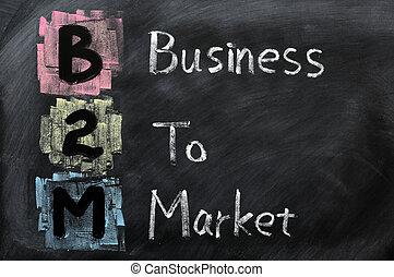 acroniem, b2m, -, markt, zakelijk