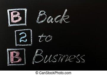 acroniem, -, back, zakelijk, b2b