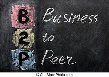 acroniem, gelijke, -, zakelijk, b2p