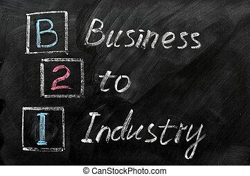 acroniem, industrie, -, b2i, zakelijk