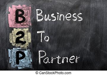 acroniem, partner, -, zakelijk, b2p