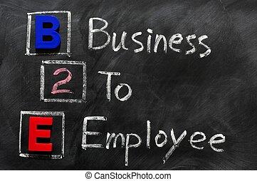 acroniem, werknemer, b2e, -, zakelijk