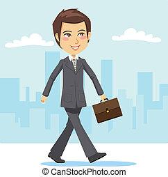 actief, zakenman, jonge