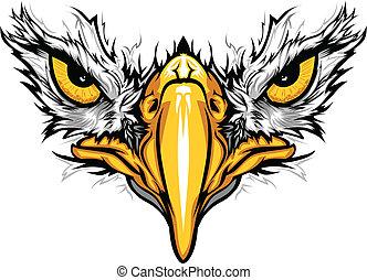 adelaar, eyes, vector, illustratie, snavel