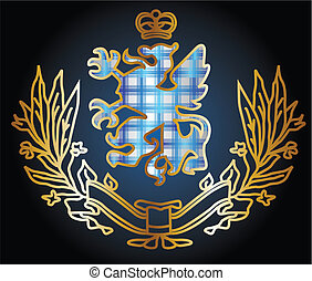adelaar, heraldisch, embleem, prachtig