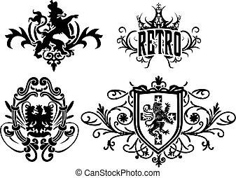 adelaar, heraldisch, kam