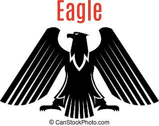 adelaar, heraldisch, meldingsbord, vector, black , gotisch, pictogram