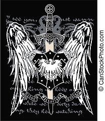 adelaar, heraldisch, middeleeuws