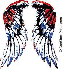 adelaar, vleugel, usa, verticaal