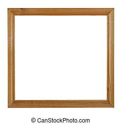 afbeelding, af)knippen, frame, houten, vrijstaand, achtergrond, steegjes, witte