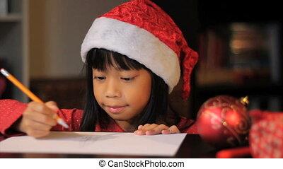 afbeelding, claus-close, op, kerstman
