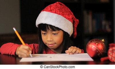 afbeelding, claus, tekening, kerstman