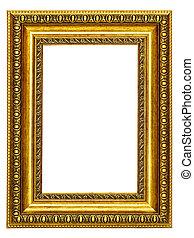 afbeelding, gold-patterned, frame